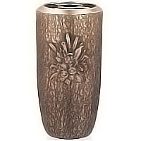 Flowers vase 30cm - 12in In bronze, with plastic inner, ground attached 102351/P