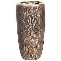 Flowers vase 20cm - 8in In bronze, with copper inner, ground attached 2579/R