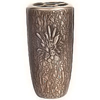 Flowers vase 20cm - 8in In bronze, with plastic inner, wall attached 2581/P