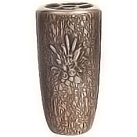Flowers vase 20cm - 8in In bronze, with copper inner, wall attached 2581/R