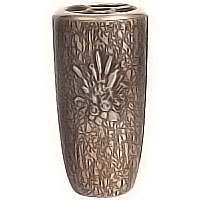 Flowers vase 20cm - 8in In bronze, with plastic inner, ground attached 2579/P