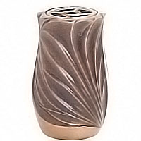 Flowers vase 20cm - 8in In enamelled bronze, with copper inner, ground attached 2631/R
