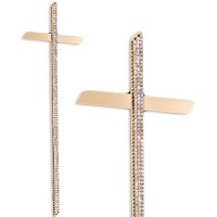 Cross Nastro Brillante 45cm - 17,5in In bronze with crystals, for coffins OF/505