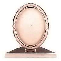 Oval photo frame 11x15cm - 4,3x5,9in In bronze, ground attached 1235