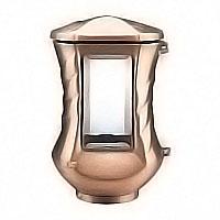 Lamp for candle 20cm - 8in In bronze, ground attached 2458