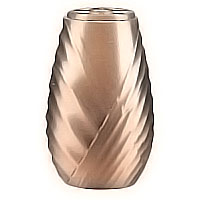 Flowers vase 20cm - 8in In bronze, with copper inner, wall attached 2538/R