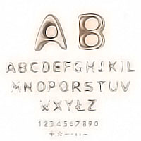 PACKS 25 letters Passion, in various sizes Individual bronze letter or number