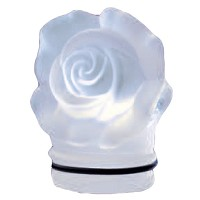 Frosted crystal small rose 7,5cm - 3in Decorative flameshade for lamps