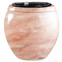 Flowers pot Amphòra 19cm - 7,5in In Pink Portugal marble, plastic inner
