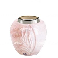 Base for grave lamp Spiga 10cm - 4in In Pink Portugal marble, with steel ferrule