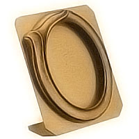 Oval photo frame 11x15cm- 4,3x5,9in In bronze, ground attached 1278