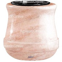 Flowers pot Calyx 19cm - 7,5in In Pink Portugal marble, plastic inner