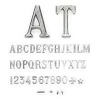 Letters and numbers Roman straits, in various sizes Individual steel lettering