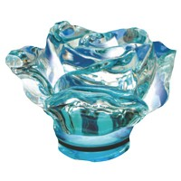 Sky blue crystal Rose 10cm - 3,9in Decorative flameshade for lamps