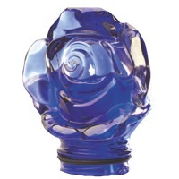 Blue crystal Frontal rose 9,5cm - 3,9in Decorative flameshade for lamps