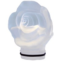 Frosted crystal Frontal rose 9,5cm - 3,7in Decorative flameshade for lamps
