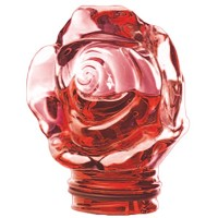 Red crystal Frontal rose 9,5cm - 3,9in Decorative flameshade for lamps