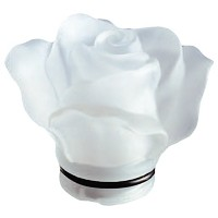 Frosted crystal Rose 10cm - 3,9in Decorative flameshade for lamps