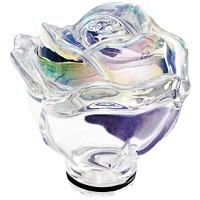Iridescent crystal Ground rose 13cm - 5,1in Decorative flameshade for lamps