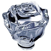 Crystal Ground rose 13cm - 5,1in Decorative flameshade for lamps