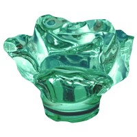 Green crystal Rose 10cm - 3,9in Decorative flameshade for lamps