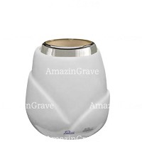 Base for grave lamp Liberti 10cm - 4in In Sivec marble, with steel ferrule