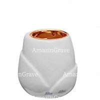 Base for grave lamp Liberti 10cm - 4in In Sivec marble, with recessed copper ferrule