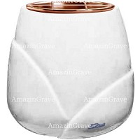 Flowers pot Liberti 19cm - 7,5in In Sivec marble, copper inner