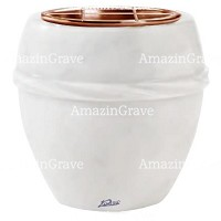 Flowers pot Chordè 19cm - 7,5in In Sivec marble, copper inner