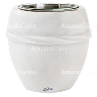 Flowers pot Chordè 19cm - 7,5in In Sivec marble, steel inner