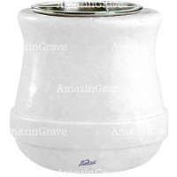Flowers pot Calyx 19cm - 7,5in In Sivec marble, steel inner