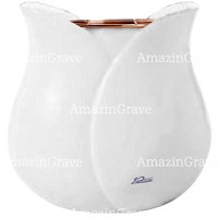 Flowers pot Tulipano 19cm - 7,5in In Sivec marble, copper inner