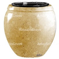 Flowers pot Amphòra 19cm - 7,5in In Trani marble, plastic inner