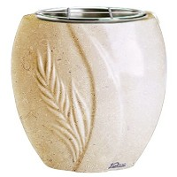 Flowers pot Spiga 19cm - 7,5in In Trani marble, steel inner