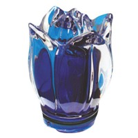 Blue crystal Tulip 10,5cm - 4,1in Decorative flameshade for lamps