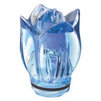 Sky blue crystal tulip 10,5cm - 4,1in Decorative flameshade for lamps