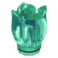 Green crystal Tulip 10,5cm - 4,1in Decorative flameshade for lamps
