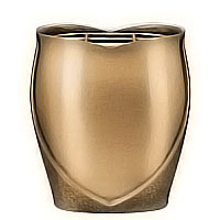 Flowers pot 19cm - 7,80in In bronze, with copper inner, ground attached 2620/R