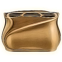 Flowers pot 19cm - 7,80in In bronze, with steel inner, wall attached 2535/A