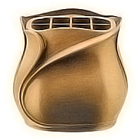 Flowers pot 19cm - 7,80in In bronze, with steel inner, wall attached 25/A