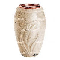Flower vase Calla 20cm - 8in In Calizia marble, copper inner