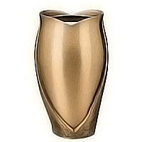 Flowers vase 20cm - 8in In bronze, with copper inner, wall attached 2604/R