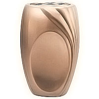 Flowers vase 20cm-8in x 14cm-6in In bronze, with copper inner, ground attached 50201/R