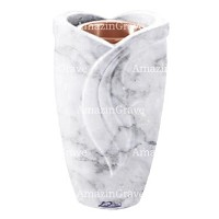 Flower vase Gres 20cm - 8in In Carrara marble, copper inner