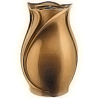 Flowers vase 30cm - 11,8in In bronze, with copper inner, ground attached 2511/R