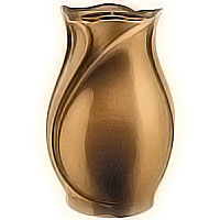 Flowers vase 26cm - 12in In bronze, with copper inner, ground attached 2507/R