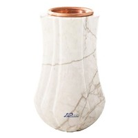 Flower vase Leggiadra 20cm - 8in In Carrara marble, copper inner