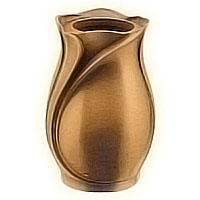 Flowers vase 20cm - 8in In bronze, with copper inner, wall attached 2517/R