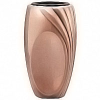 Flowers vase 13cm - 5,1in x 8,5cm - 3,4in In bronze, with copper inner, ground attached 50207/R