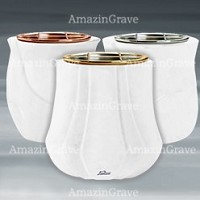Flower pots in Pure White marble